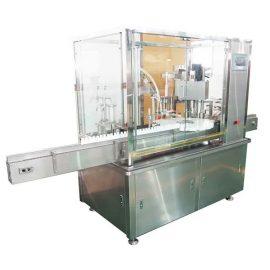 10ml-100ml E-šķidruma pudeļu pildīšanas un aizbāžņa mašīna ar virzuļa sūkni