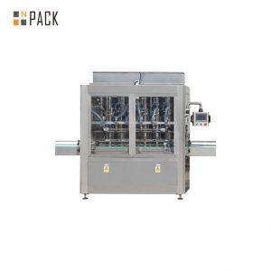 PLC Control 10 galvas gravitācijas pudeļu pildīšanas mašīna 1 - 5L balinātāju tīrīšanas līdzeklim