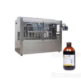 Agrochemica pudeļu uzpildes līnija / ātrgaitas šķidru pesticīdu uzpildes mašīna līnija