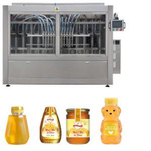PLC vadības medus burkas iepildīšanas līnijas automātiskā šķidruma iepildīšanas līnija GMP Standarts