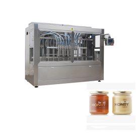 PLC Control 8 sprauslu pastas iepildīšanas mašīna, 400G stikla ievārījuma javu iepildīšanas mašīna