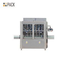 1L-5L pārtikas eļļas iepildīšanas līnija ar servo uzpildes mašīnu, piedurkņu iesaiņojuma saraušanās mašīna