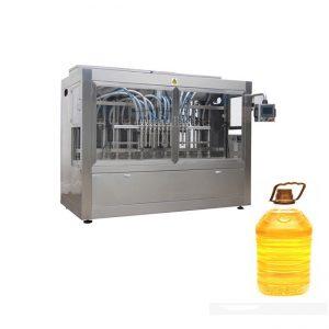 Industriālā automātiskā šķidruma uzpildes līnija ar virzuļa iepildīšanas mašīnu un automātisko pudeļu etiķeti
