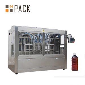 Lineāru 8 galvu automātiska šķidruma iepildīšanas mašīna ķīmiskām vielām / mēslojumam / pesticīdiem