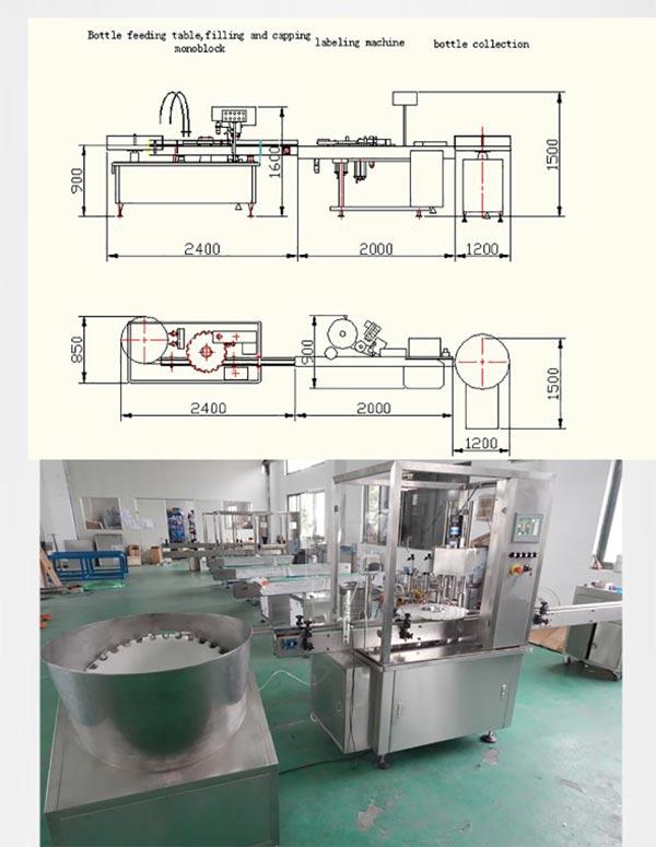 Flakona E-šķidruma iepildīšanas aizbāžņu aizbāžņu ražošanas līnija