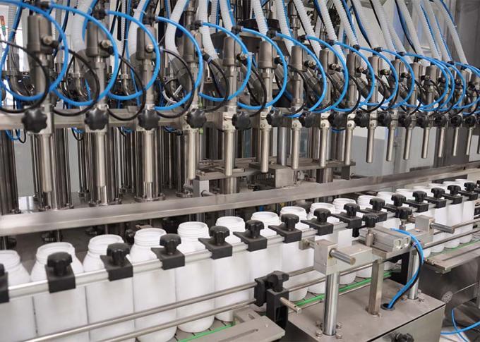 PLC vadības veļas mazgāšanas līdzekļu iepildīšanas mašīnu līnija ar augstu ražošanas efektivitāti
