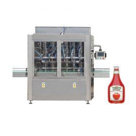 Kečupu un olīveļļas iepildīšanas mašīna ar virzuļa veidu