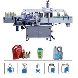 Apaļas / plakanas / kvadrātveida pudeles marķēšanas mašīna, ar servo vadāma divpusēja marķēšanas mašīna