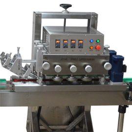 Vienas galvas pudeļu aizdares mašīna / ROPP alumīnija skrūvju vāciņa gofrēšanas mašīna