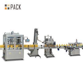 Šķidru ziepju pudeļu pildīšanas līnijas automātiska šampūnu iepildīšanas mašīnas stabila darbība